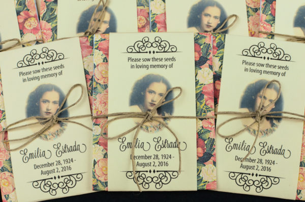 Vintage Memorial Forget Me Not Seed Packets by Gloria's Garden