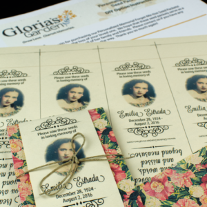Do-It-Yourself Vintage Memorial Seed Packets with Photograph