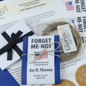 Do-It-Yourself Patriotic Memorial Forget-Me-Not Seed Packets