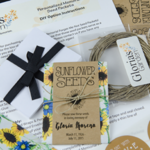 Do-It-Yourself Memorial Sunflower Seed Packets