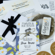 Do-It-Yourself Daisy Print Memorial Wildflower Seed Packets