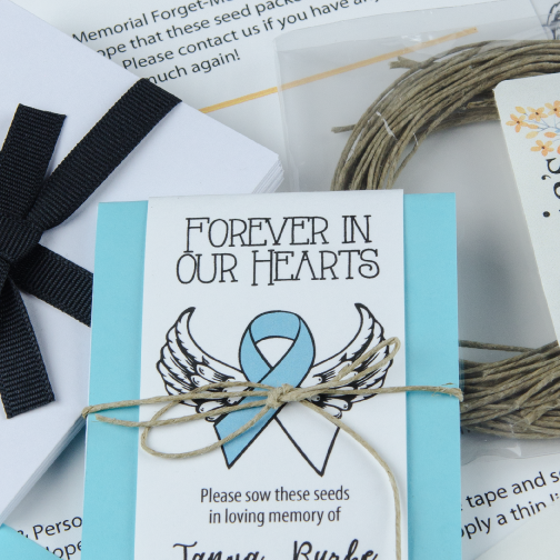 Do-It-Yourself Cancer Awareness Memorial Forever In Our Hearts Seed Packets