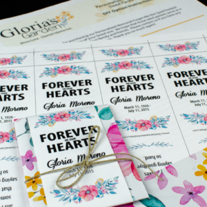 Do-It-Yourself Pink Floral Memorial Wildflower Seed Packets