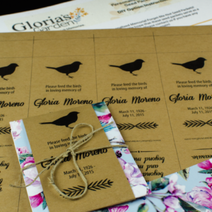 Do-It-Yourself Memorial Bird Seed Packets