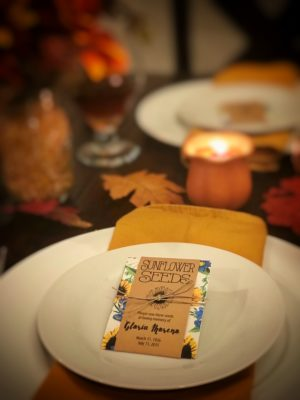 Thanksgiving Table Setting by Gloria's Garden